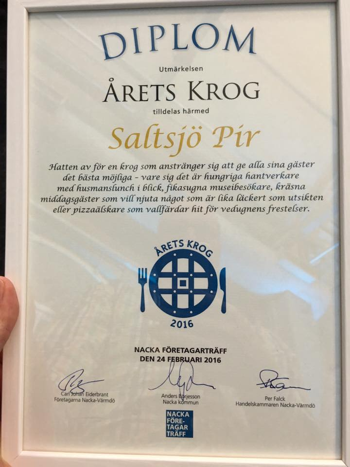 Saltsjö Pir i Fisksätra Årets krog