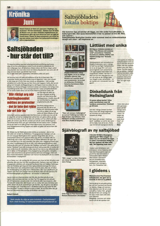 Krönika Robert Dybeck Saltsjöbladet