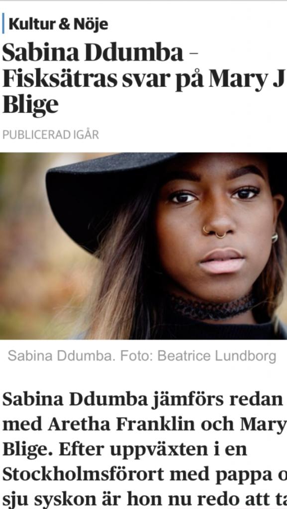 Sabina Ddumba - Fisksätras svar på Mary J Blige - DN.SE